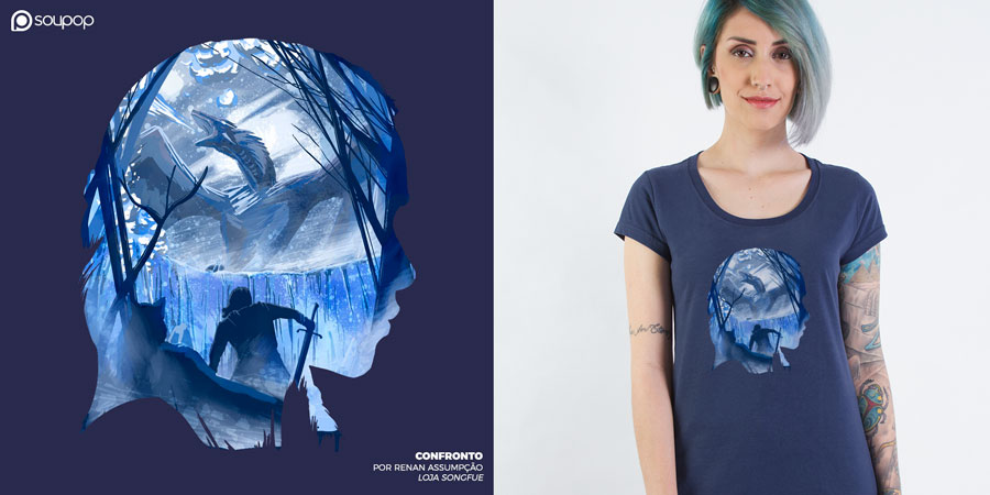 Imagem camiseta Game of Thrones - Confronto
